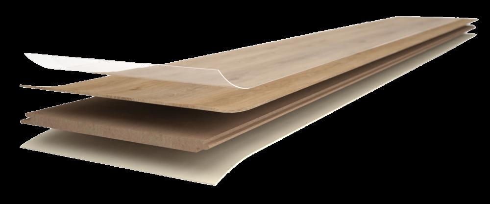 Vrstvy vinylové podlahy Easyline Click.