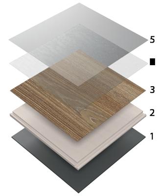 Řez vinylovou podlahou Expona Clic 19dB