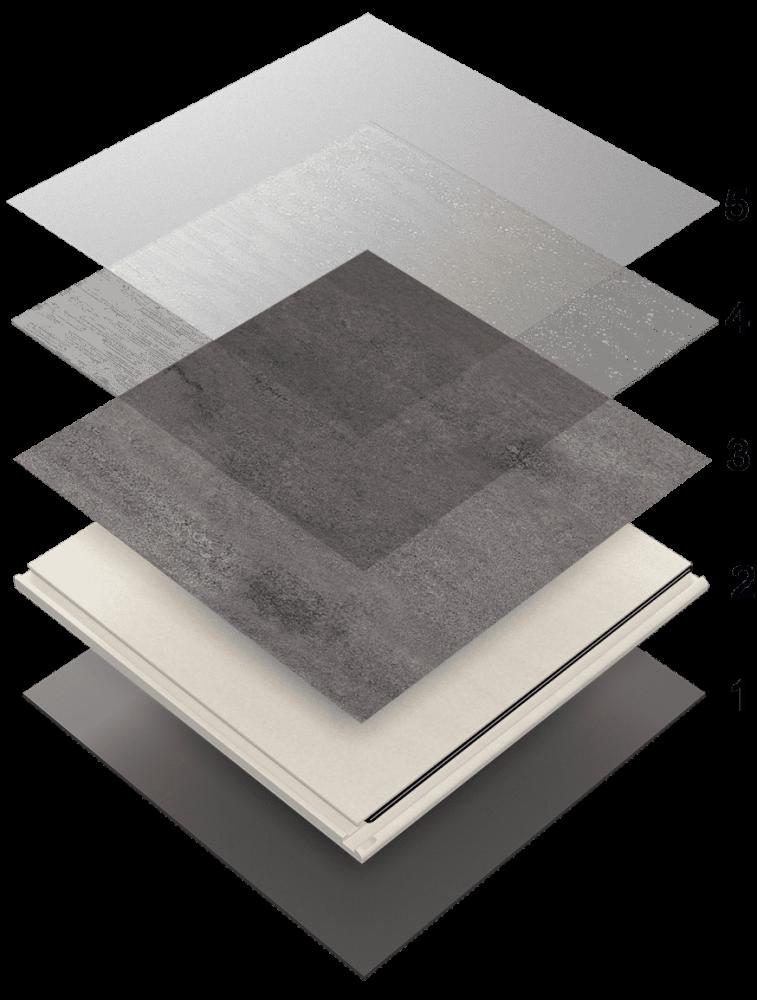 Vrstvy vinylové podlahy Expona Clic 19 dB Stone