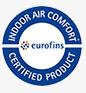 Podlaha Projectline má certifikát Indoor Air Comfort Gold, který získávají jen opravdu zdravé produkty s nejnižším obsahem emisí.