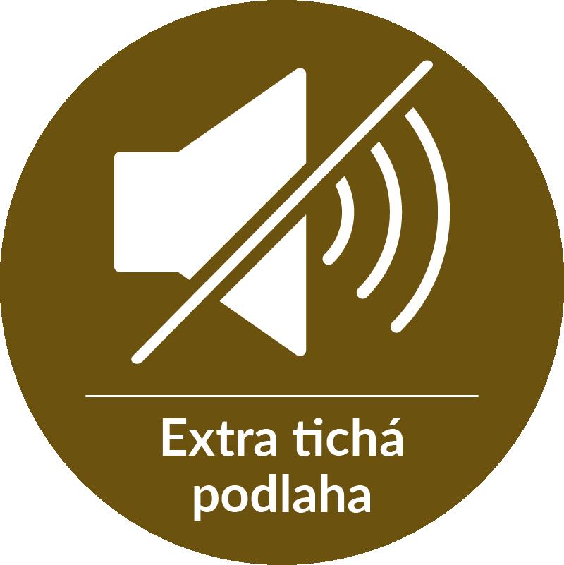 Extra tichá vinylová podlaha - útlum hluku o 16 dB.